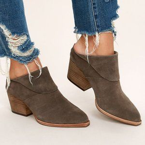 Steve Madden Shila Taupe Suede Leather Mules - 7